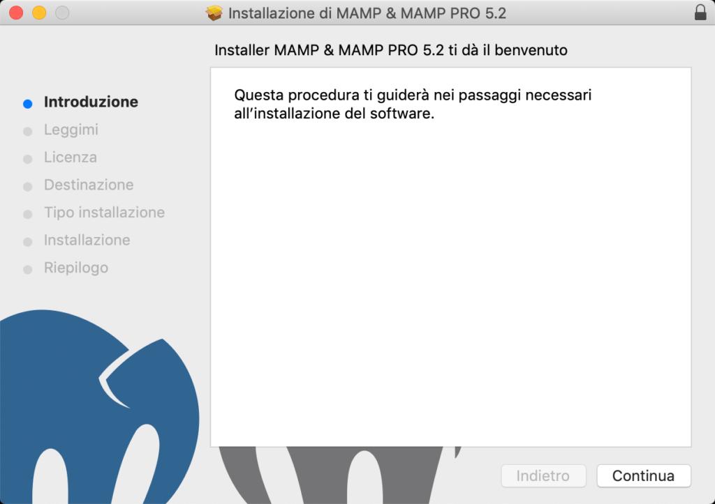 Installazione di MAMP