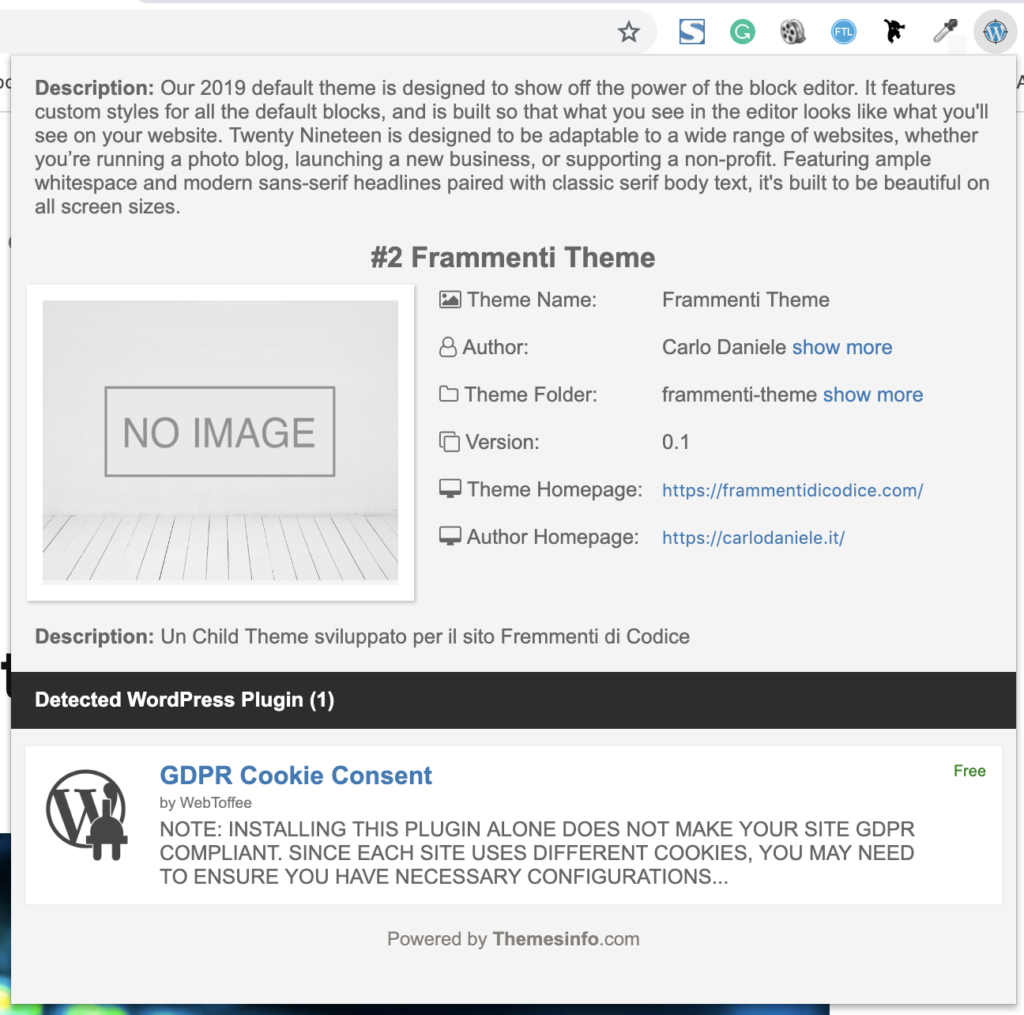 WordPress Theme Detector and Plugin Detector