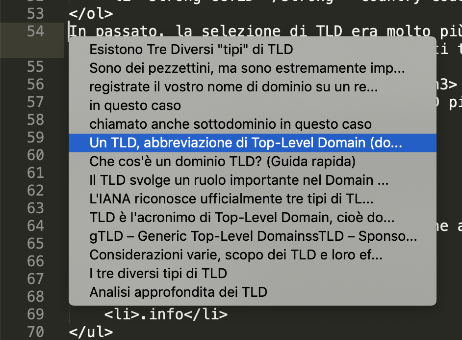La cronologia delle stringhe copiate in Sublime Text