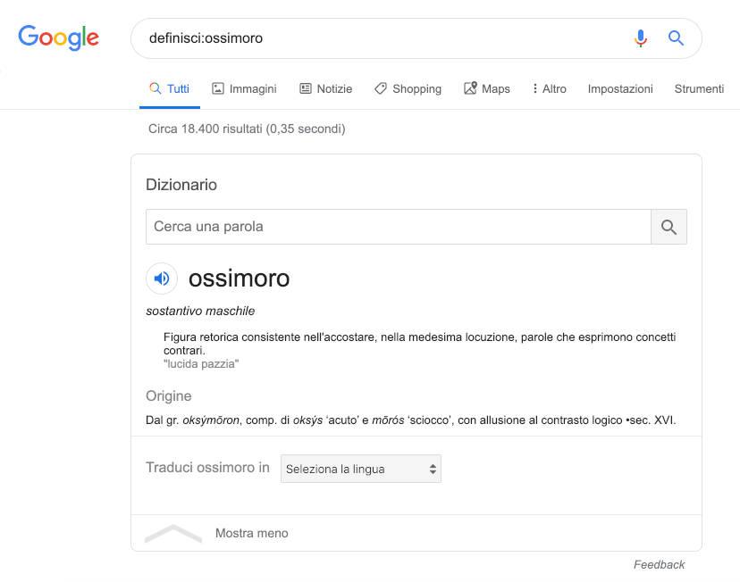 Google Search define