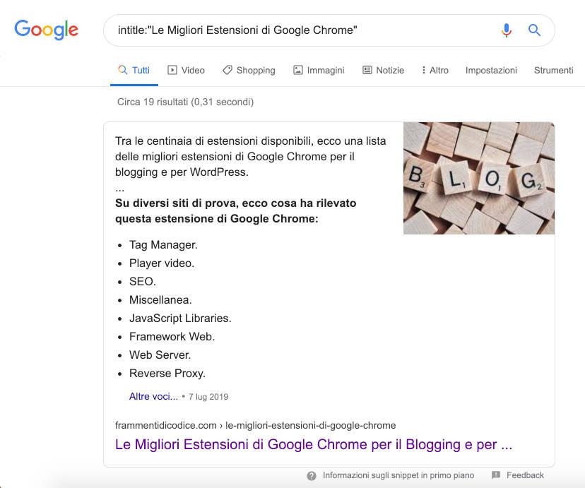 Google Search intitle