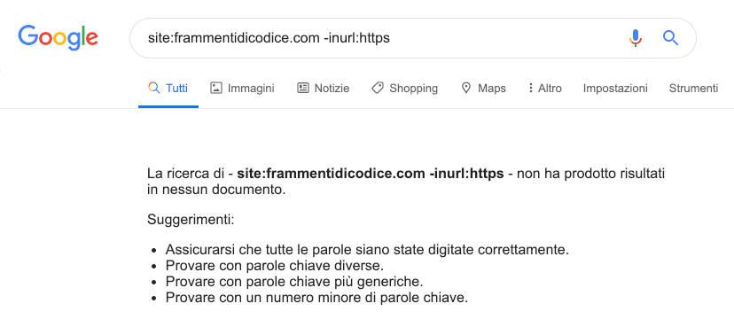 Google Search non https