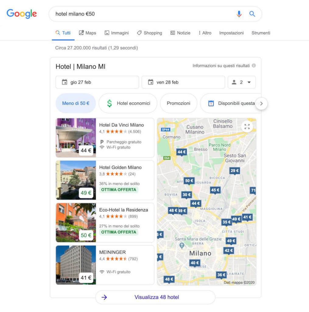 Google Search prezzo in euro