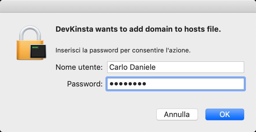 Aggiungere dominio al file hosts