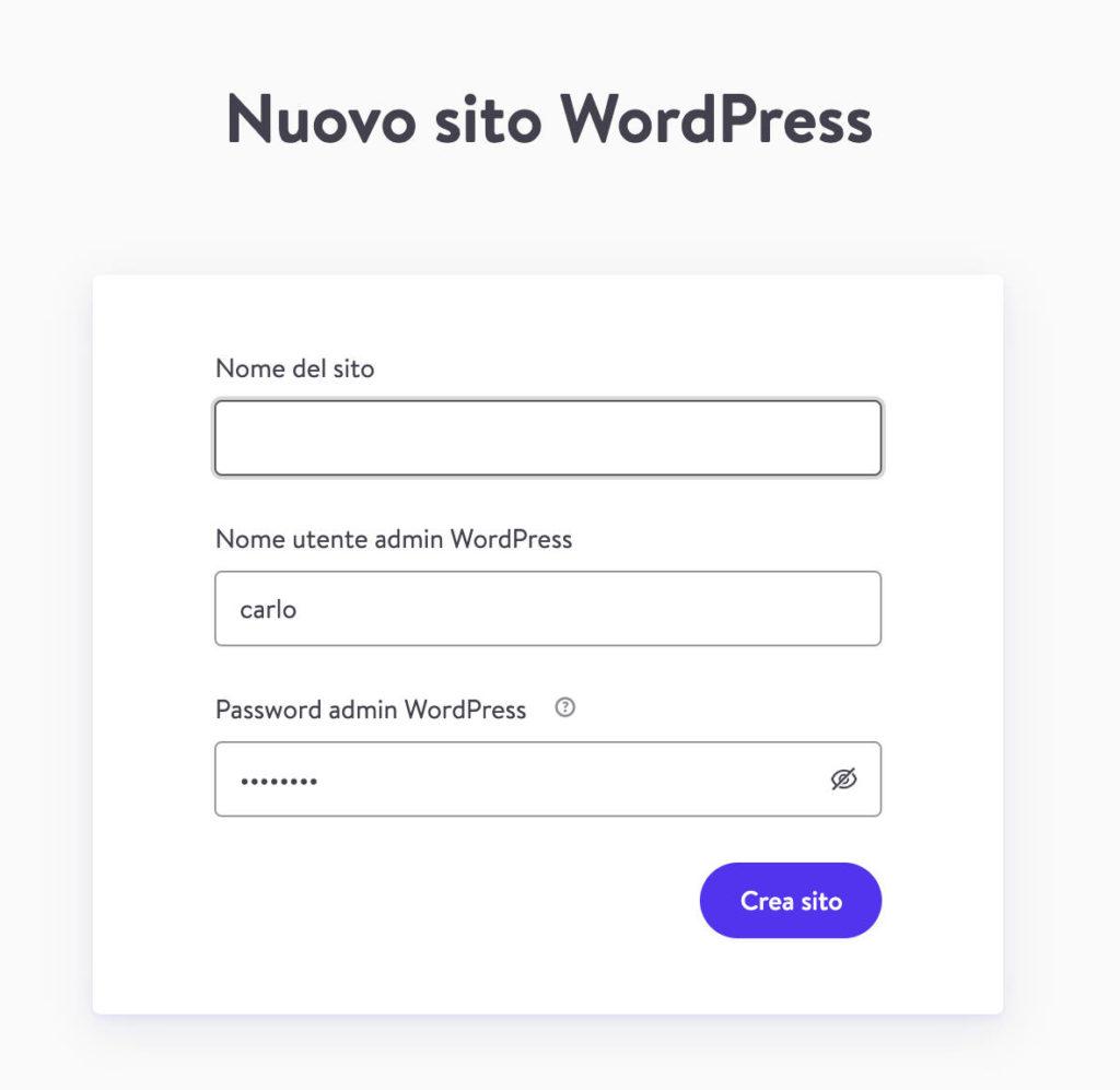 Nuovo sito WordPress